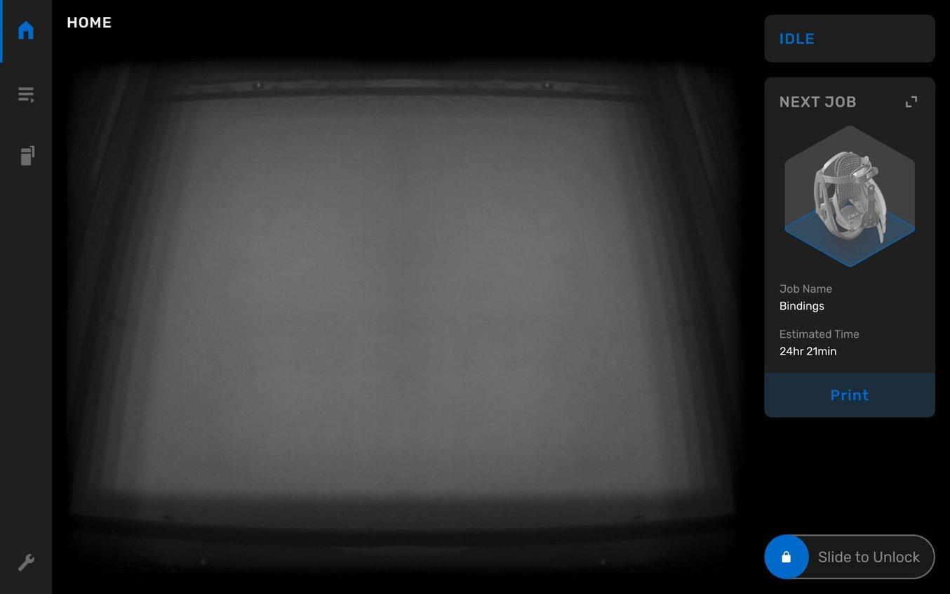 En la pantalla táctil de la Fuse 1 podrás ver durante la impresión el vídeo en tiempo real del lecho de impresión, para que veas como va tomando forma cada capa.