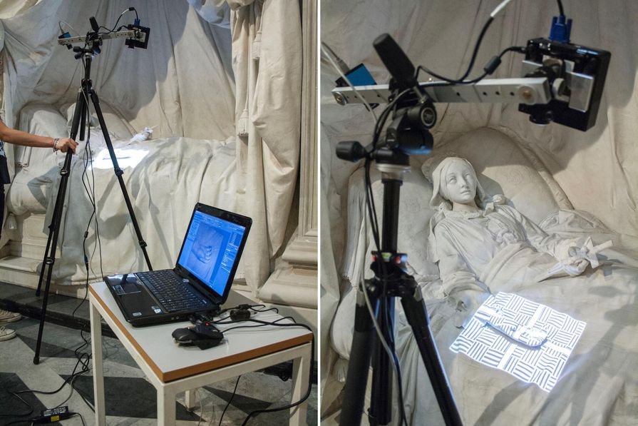 I restauratori iniziano un nuovo progetto con la scansione 3D, che li aiuta a documentare e analizzare le opere d'arte.