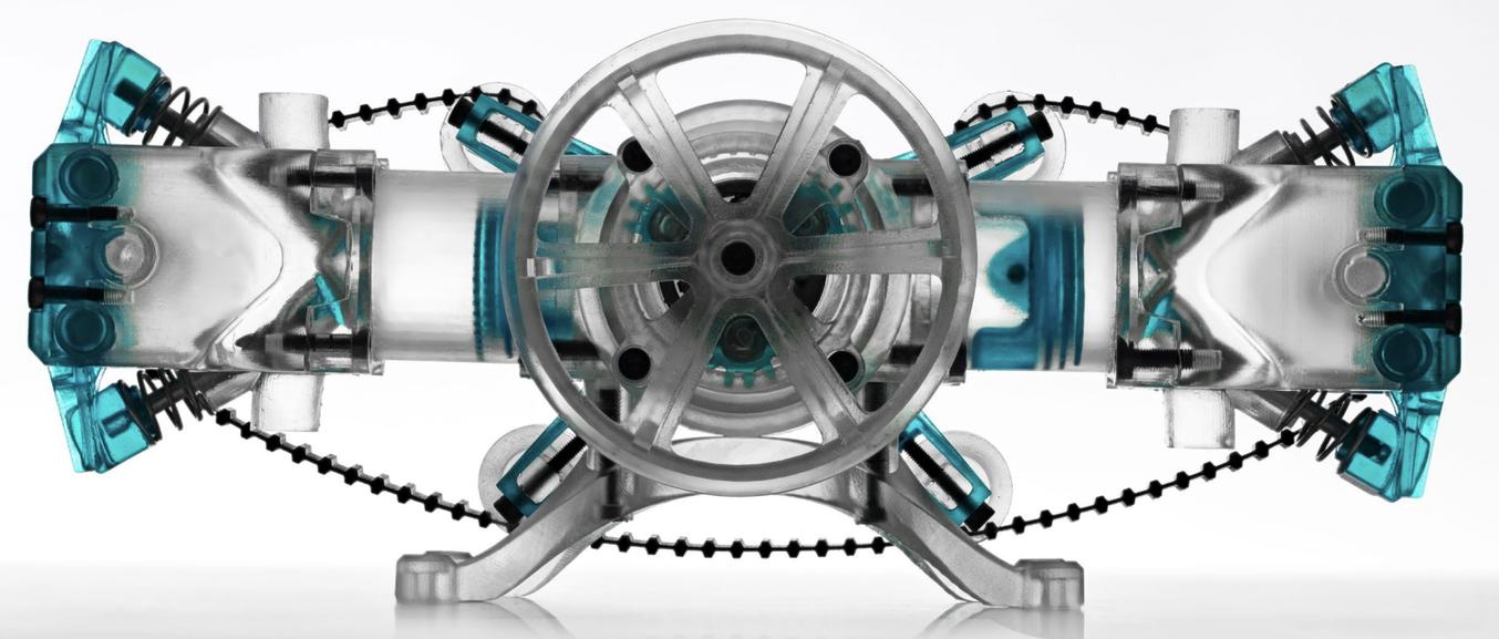 Grâce à l'impression 3D, les ingénieurs et les concepteurs de produits peuvent réaliser en interne des pièces et des prototypes d'assemblages complexes et faire des économies de coûts et de temps à chacune des phases du développement de produits.
