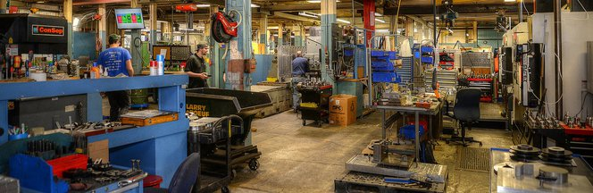 manufacturing floor machine shop