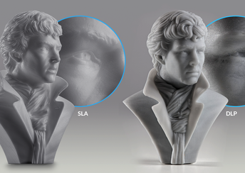 highlight image for SLA vs. DLP: Compare Resin 3D Printing Technologies (2019 Guide)