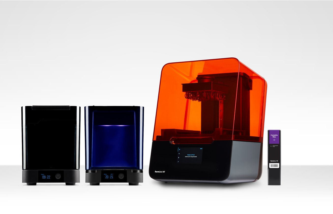 Formlabs Jewelry Ecosystem - 3D printer Form 3, Form Wash, Form Cure and Castable Wax Resin