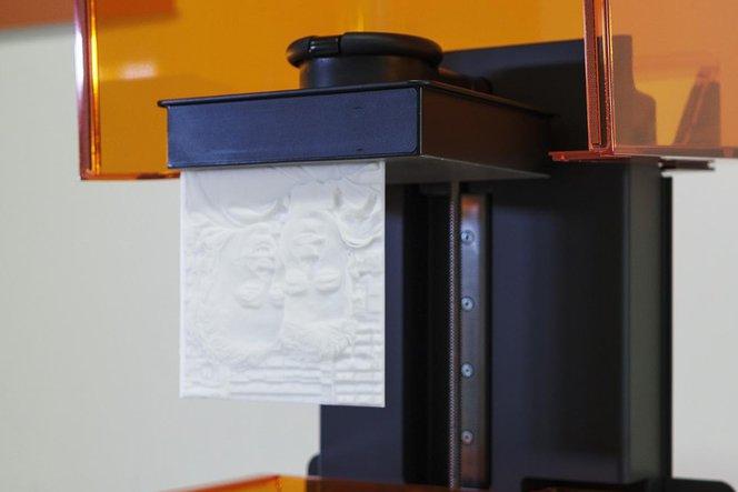 Lithophane 3d printing on build platform