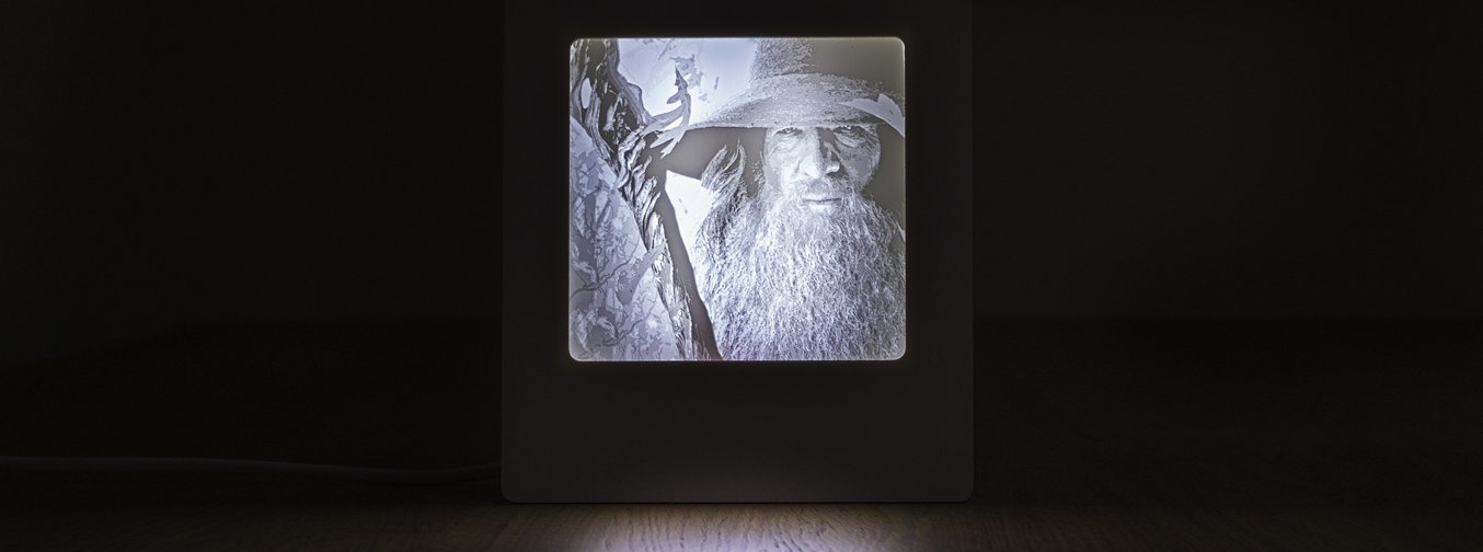 Gandalf 3d Printed lithopane