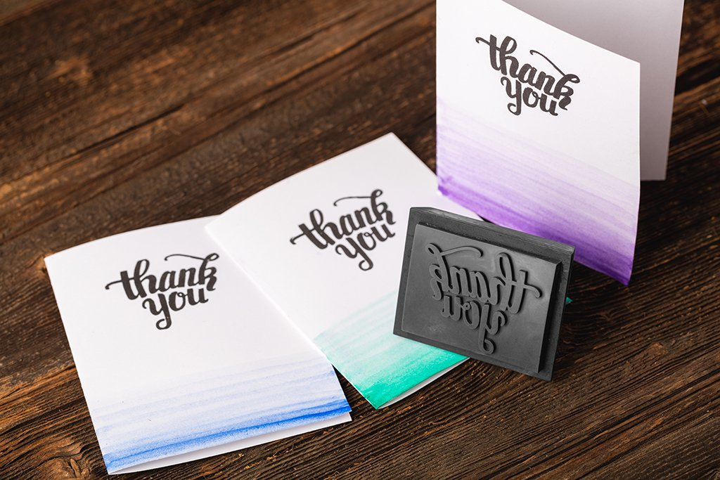 Thank you - 3D printed custom stamp