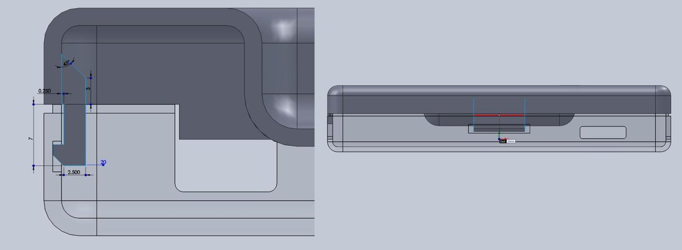 3d printing snap fit - With a basic internal cantilever snap, you can lengthen the amount of plastic engaging into the snap for a stronger lock.