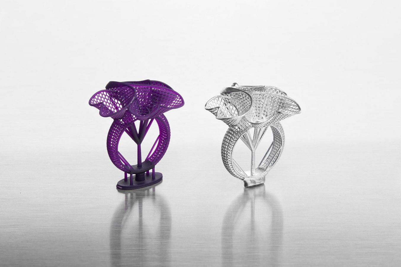 Castable Wax Resin 3D printed ring