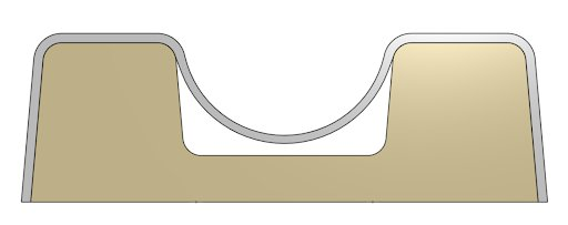 Sin una ventilación de los relieves negativos internos, el plástico tenderá a estar por encima de los contornos, en vez de amoldarse y ajustarse como debe.
