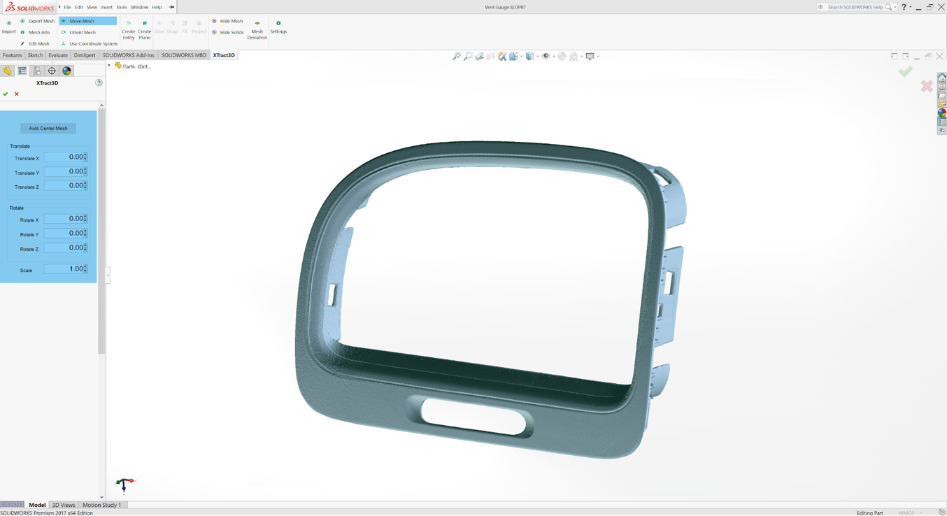 Solidworks orthographic - Reverse engineering