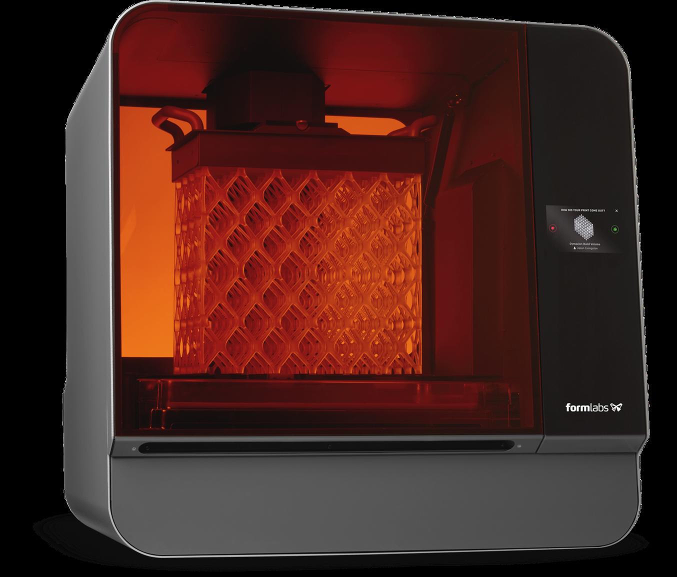 The Form 3L large format 3D printer offers a massive 30 cm x 33.5 cm x 20 cm build volume at an unprecedented value.