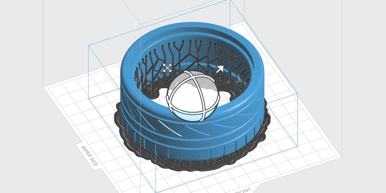 Optimized print rafts for ring-shaped parts in PreForm 2.18.0