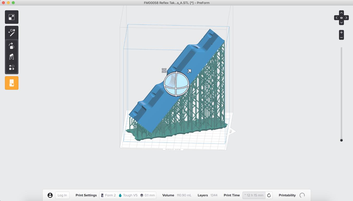 Verwenden Sie die Software PreForm, um die Teile für den Druck auf den 3D-Druckern von Formlabs vorzubereiten.