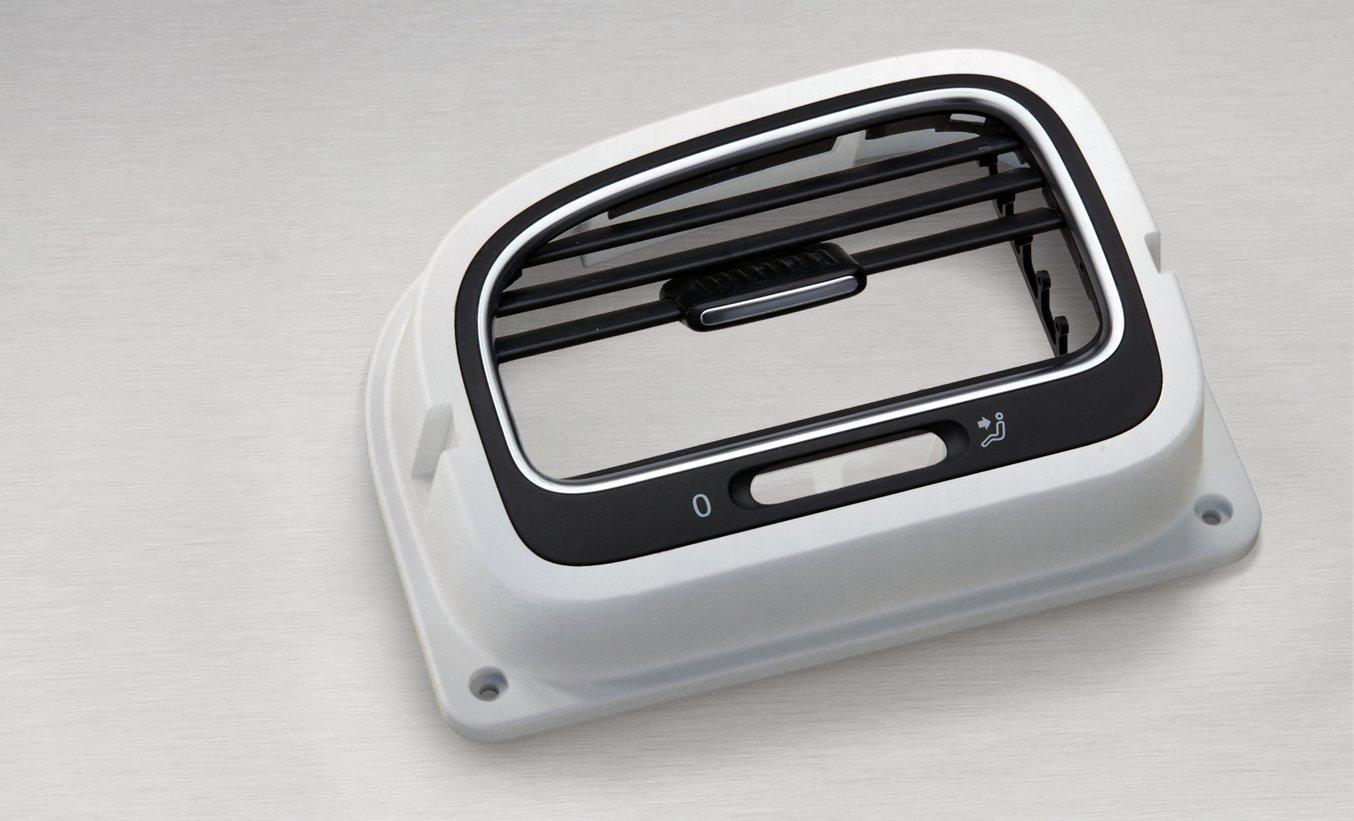 Die fertige, 3D-gedruckte Montagevorrichtung aus Rigid Resin.