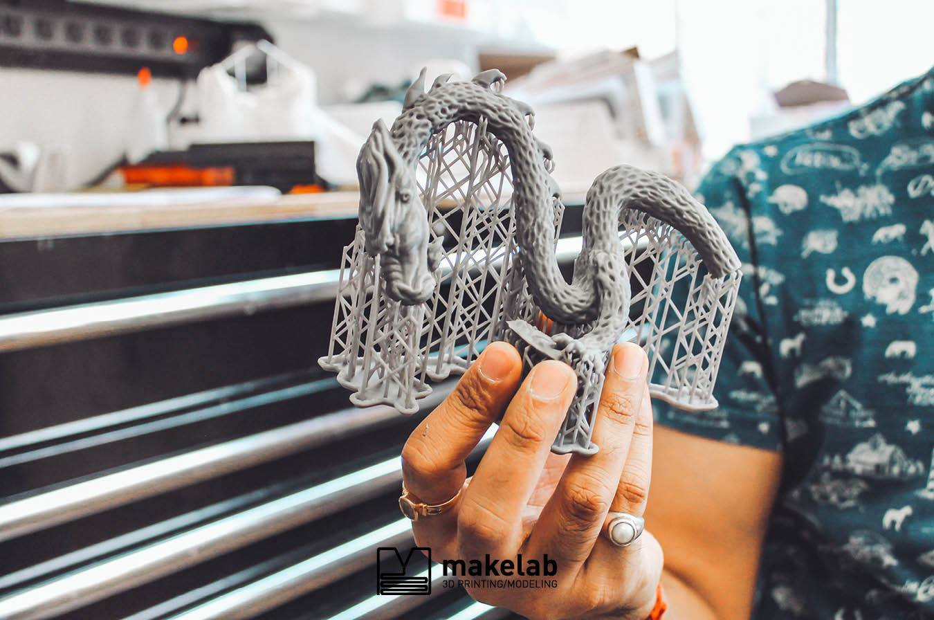 Makelab works on a wide range of projects, steering customers to the 3D printing technology that makes sense for them.