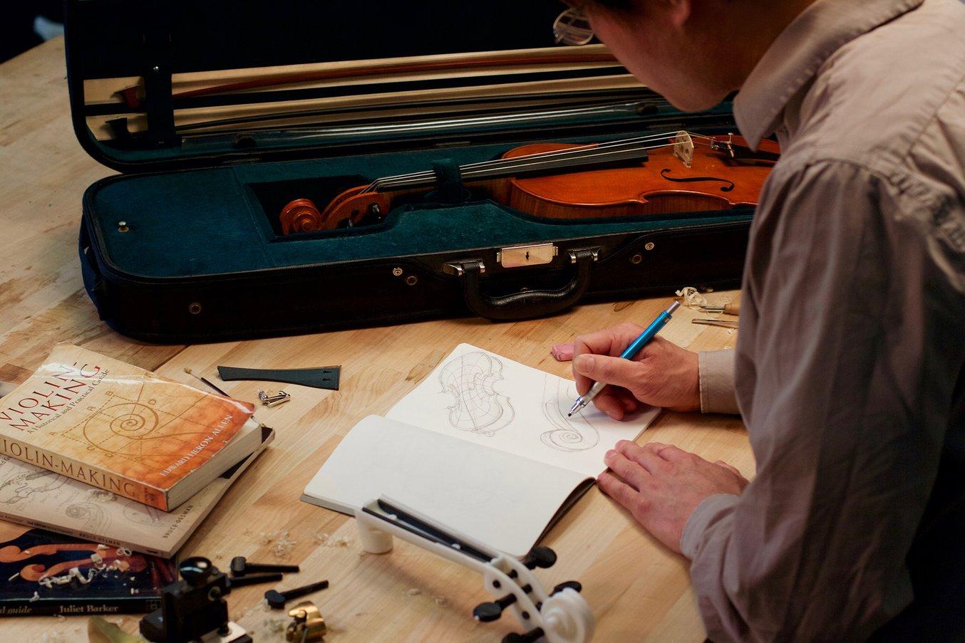 Designing a 3d printed violin