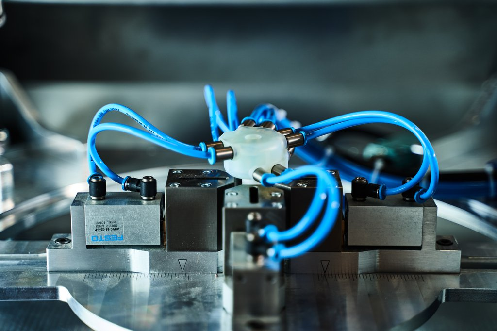 3D-gedruckte Druckluftverteiler aus Durable Resin