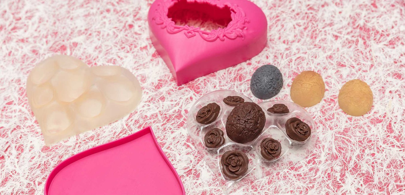 Valentines chocolate molds 3d printing vacuum forming
