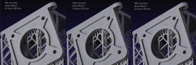 разрешение влияет на скорость 3Д печати Grey Resin