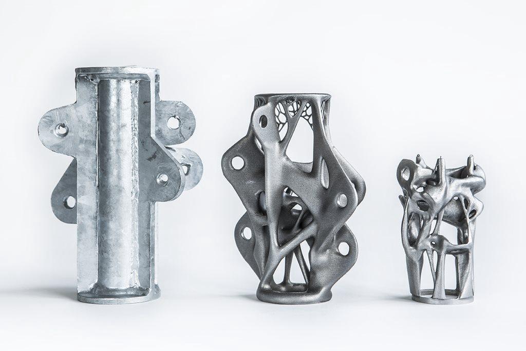Halterungen und Streben, die genau definierten Kräften ausgesetzt sind, sind Teile, bei denen das generative Design häufig eingesetzt wird.
