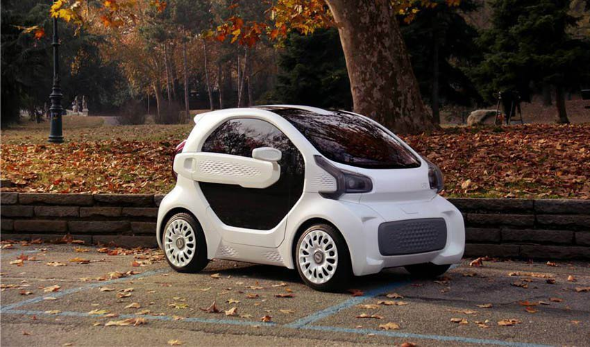 """La LSEV è la prima auto elettrica stampata in 3D """"di massa"""" che dovrebbe arrivare sul mercato alla fine di quest'anno."""