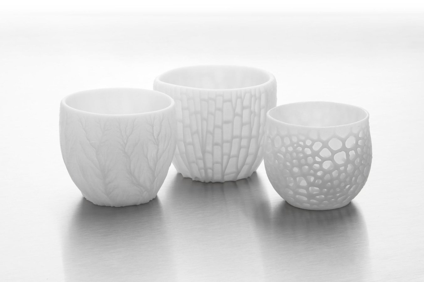 Ceramic Resin 3D printed vases