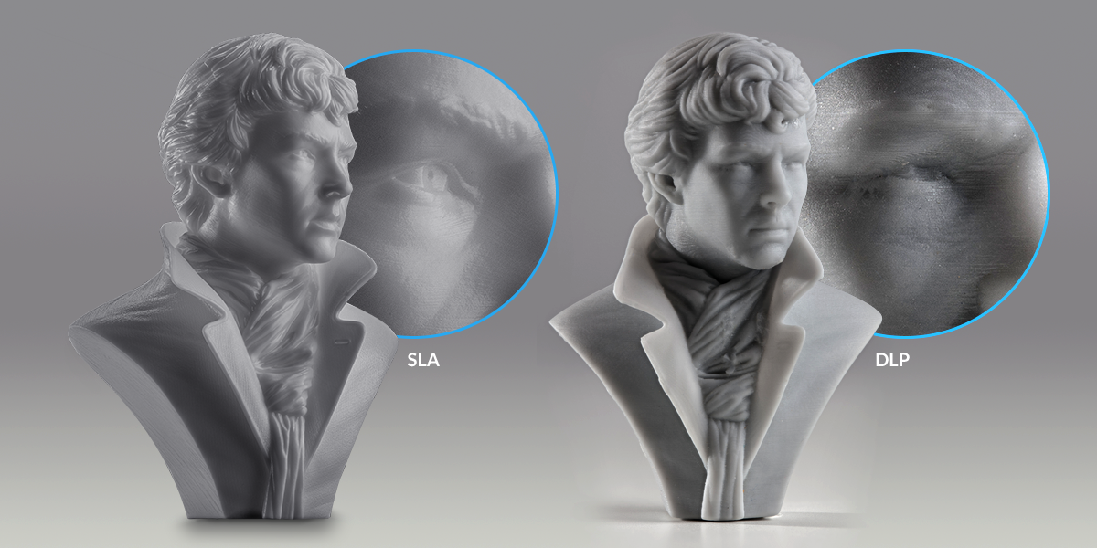 SLA vs. DLP 3D printing technology - quality comparison