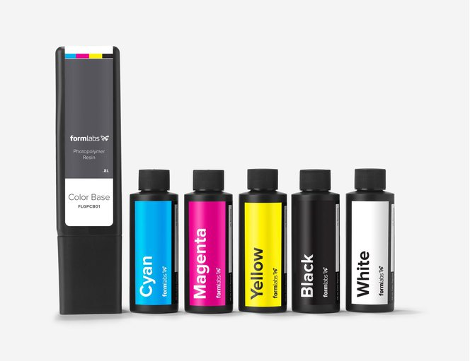 Color Kit - Resins Cyan, Magenta, Yellow, Black and White
