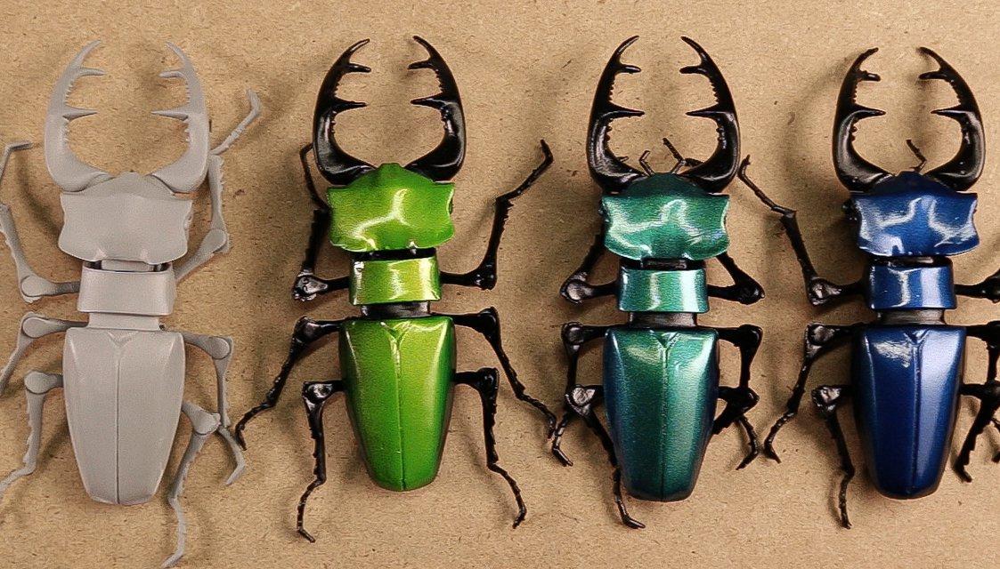Painting 3D printed parts - Beetles