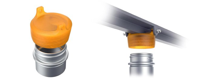 This cap with multiple mating features requires Geometric Dimensioning and Tolerancing.