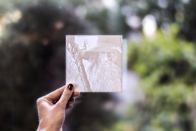 Curing 3d printed lithophane