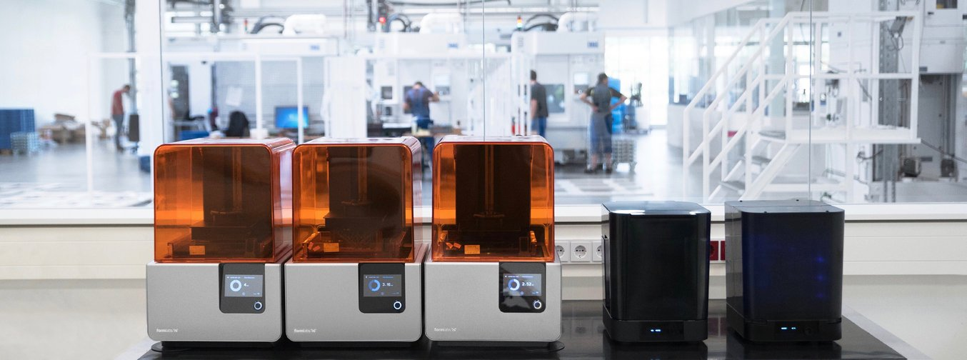 formlabs form 2 3d printer and post processing devices