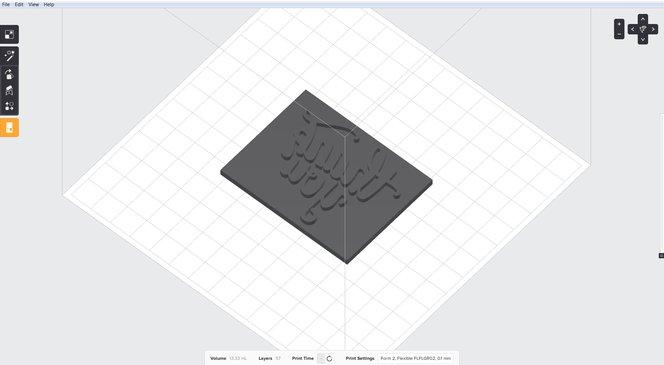 Prepare the stamp for printing in PreForm.