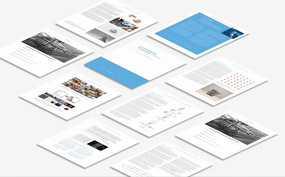 an image of the digital factory report pages