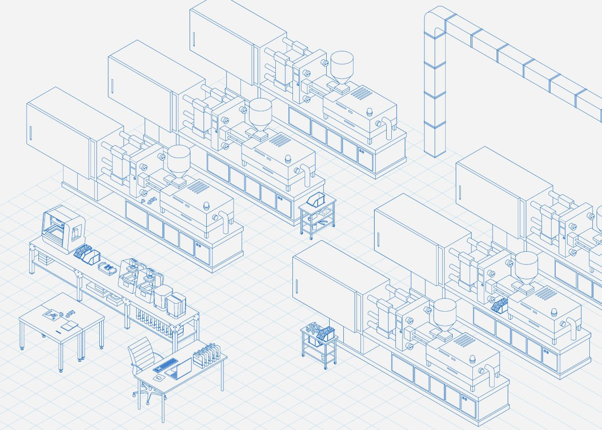 injection molding and 3d printing ecosystem infographic