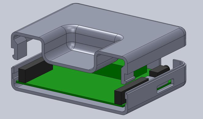 3d printing snap fit - This sectioned exploded view shows the snap details on each side.