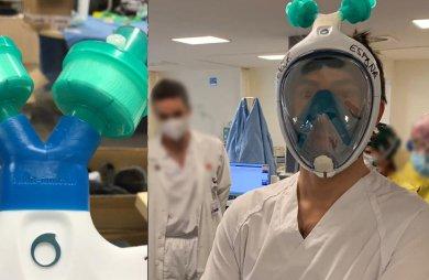 Umbau von Schnorchel- oder Tauchermasken zu PSA