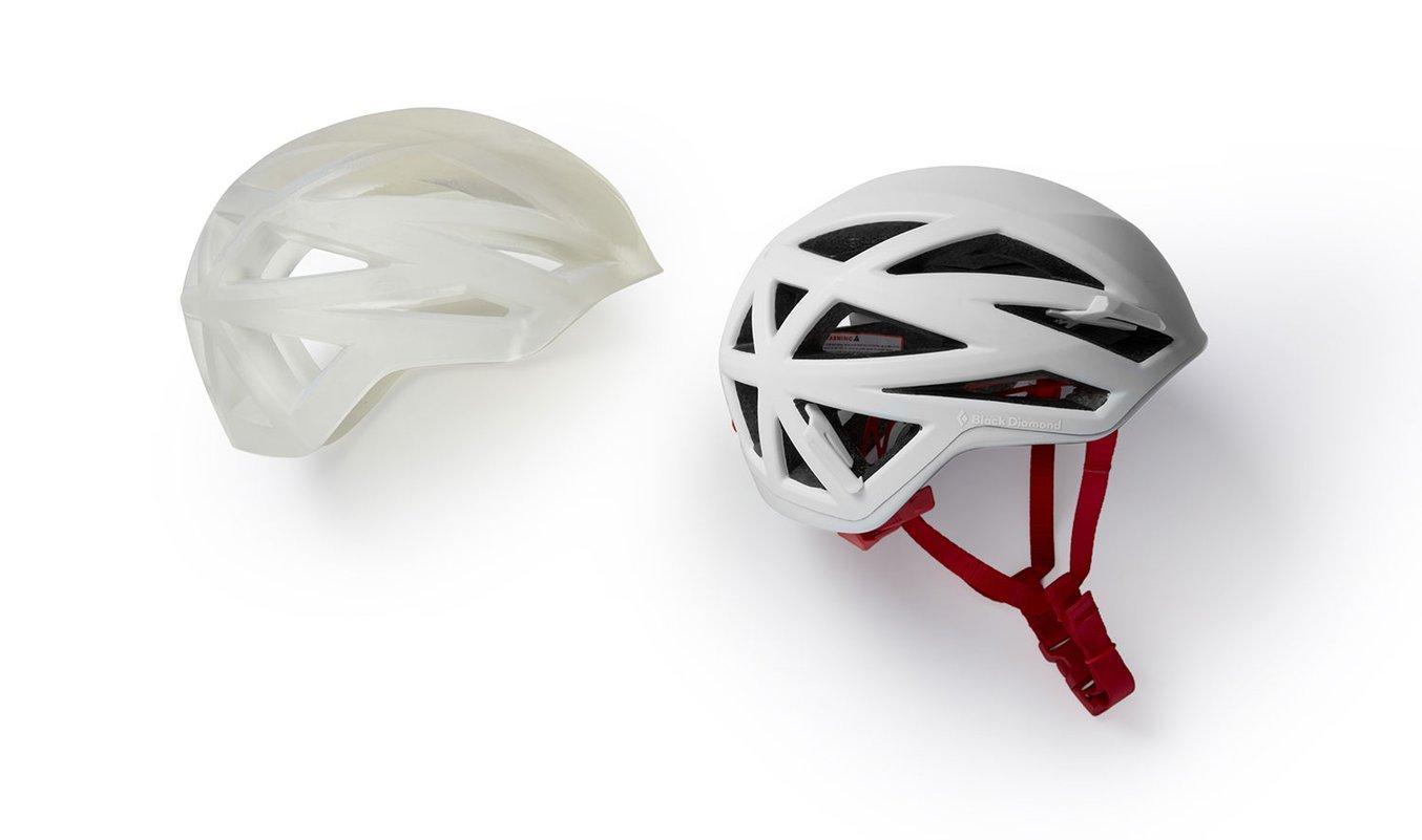 Prototype helmet by Black Diamond printed on Form 3L