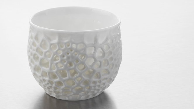 Ceramic 3D printed part - Glaze