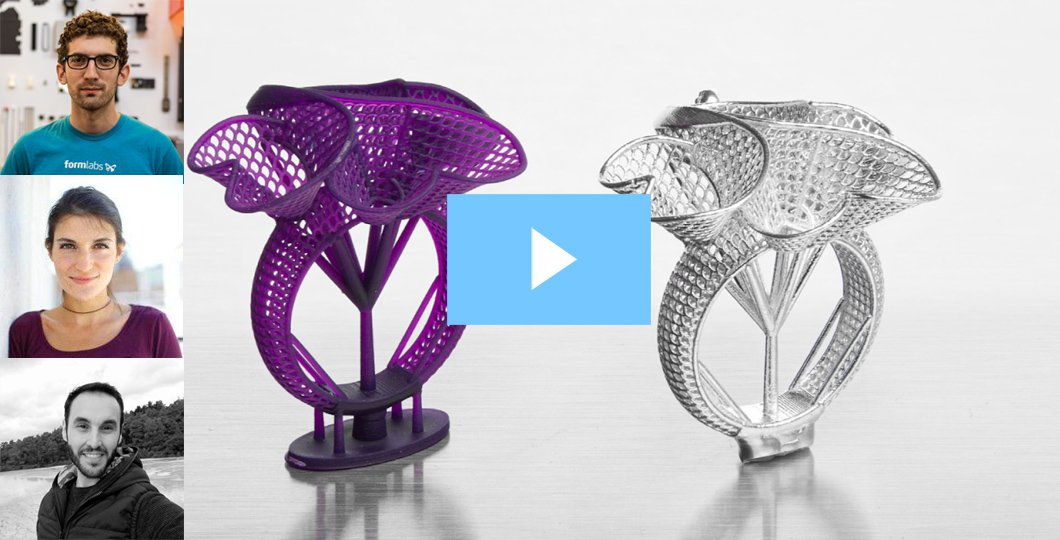 How to Print and Cast Jewelry With Castable Wax Resin webinar formlabs