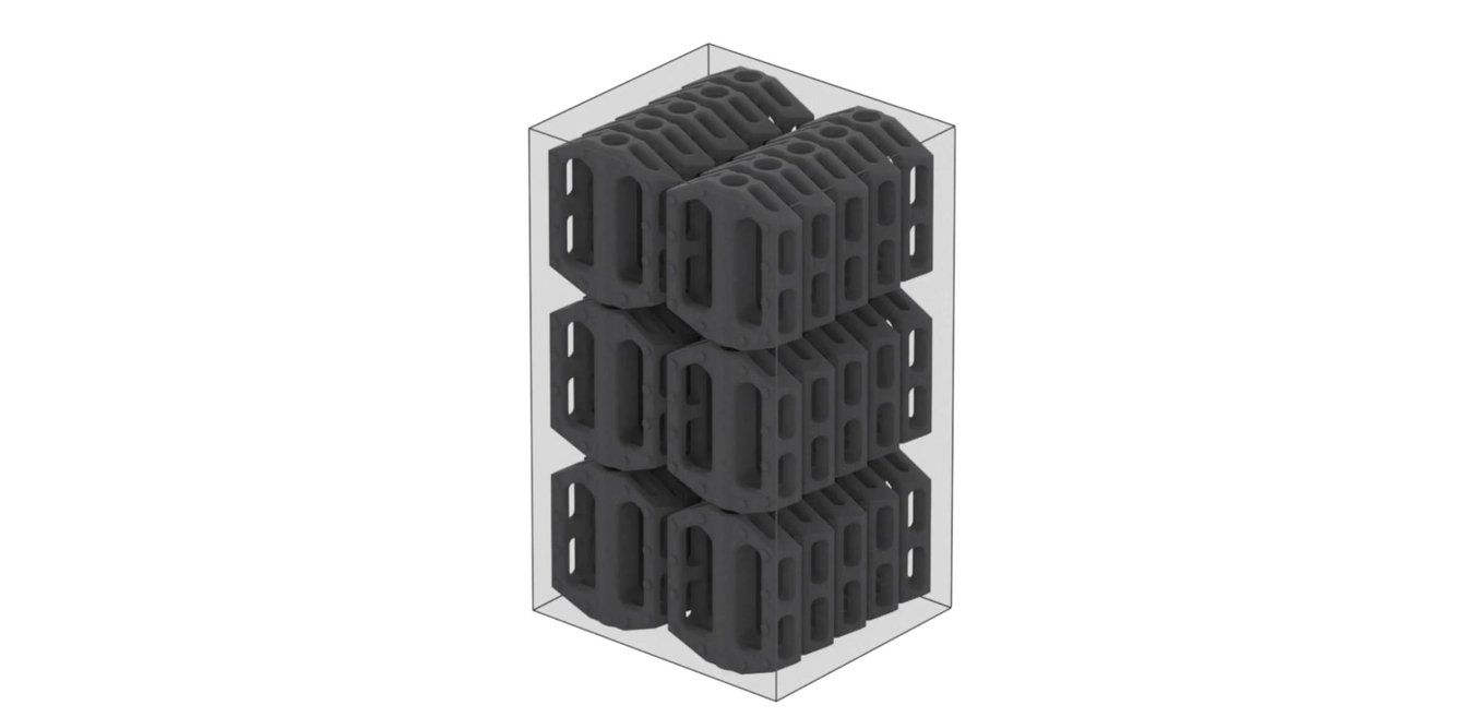 Selective Laser Sintering (SLS) - Stacking - SLS allows operators to pack the build chamber with as many parts it can fit and print them without supports to save time in post-processing.