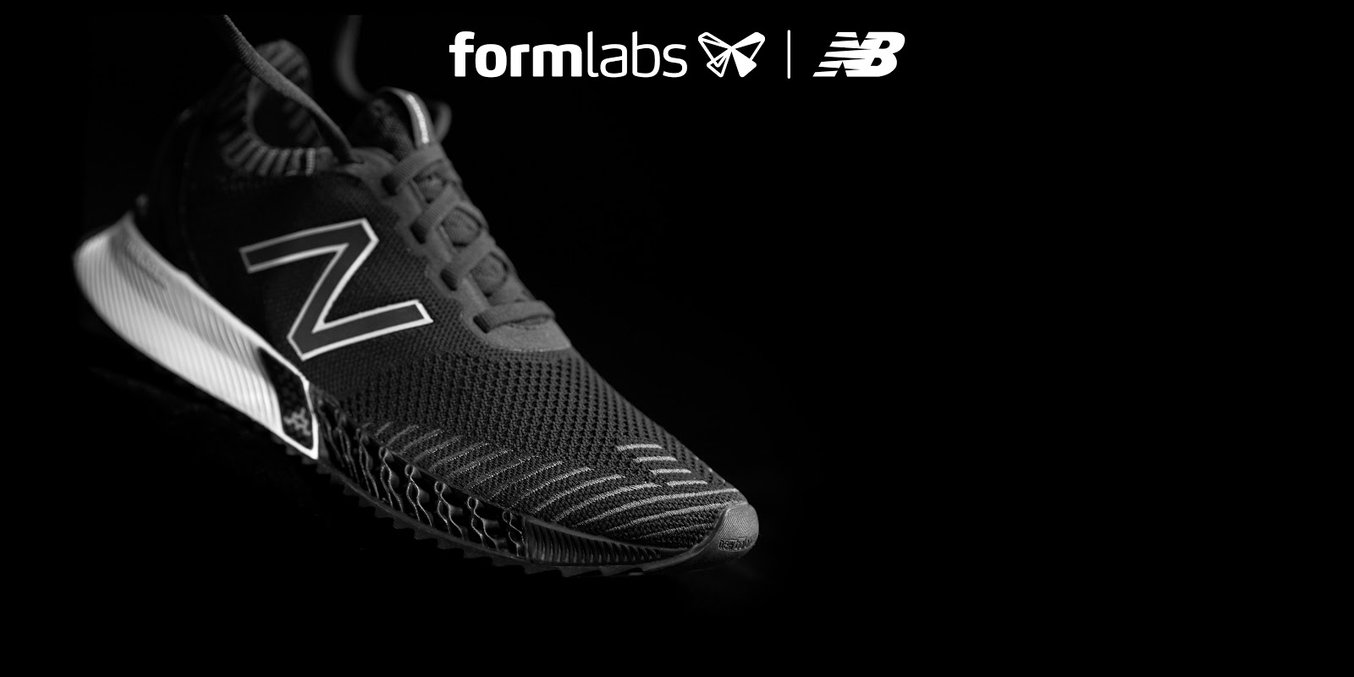 The forefoot midsole of the FuelCell Echo Triple was printed on a Formlabs 3D printer.