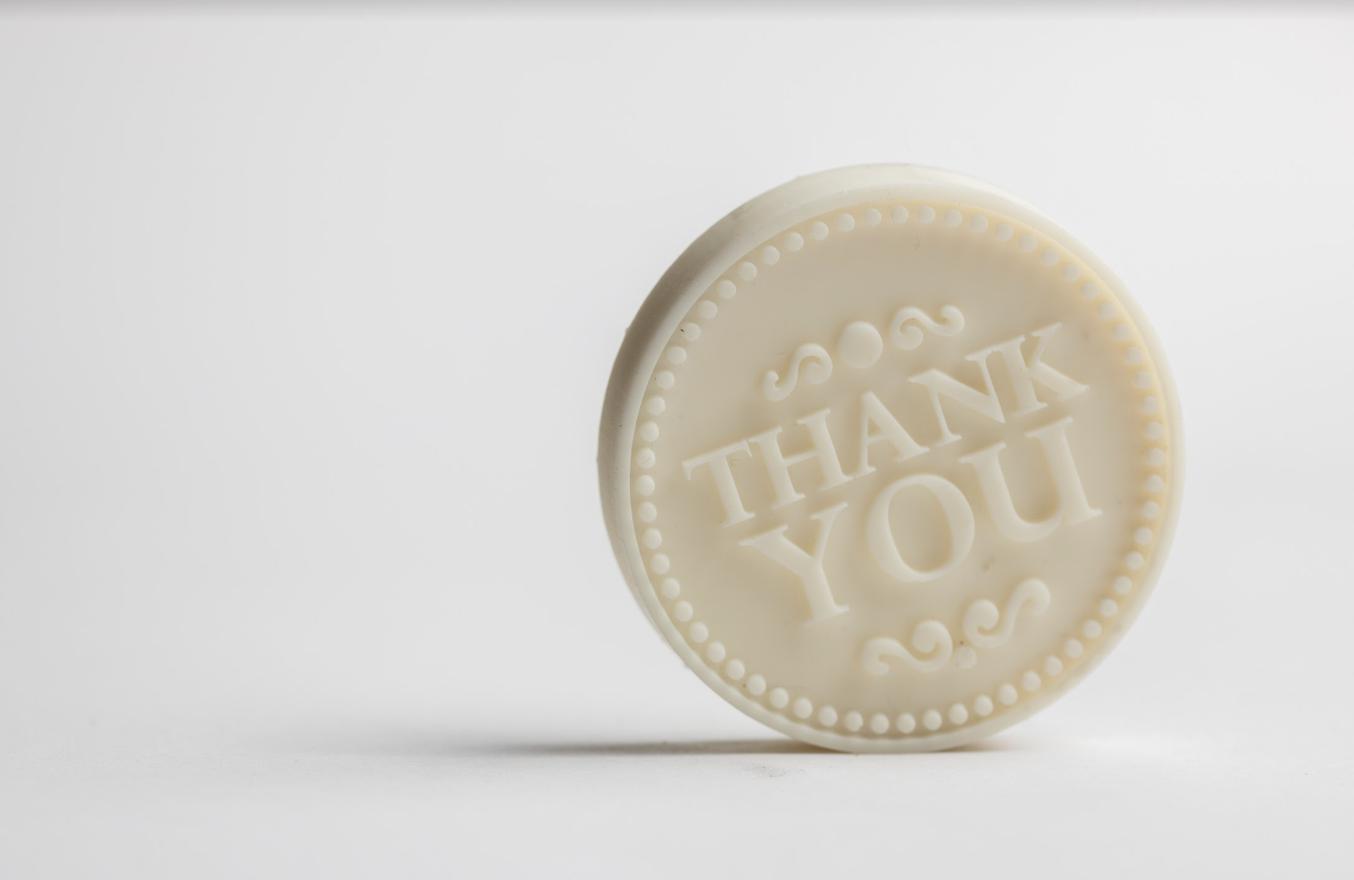 Lush 3D printed coin.