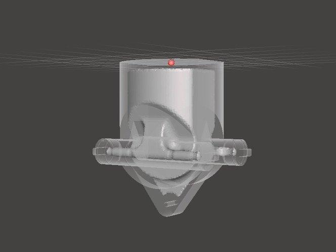 L'aggiunta di cavità al modello può consentire di risparmiare tempo e materiale, perché la stampante dovrà solo creare la scocca esterna.