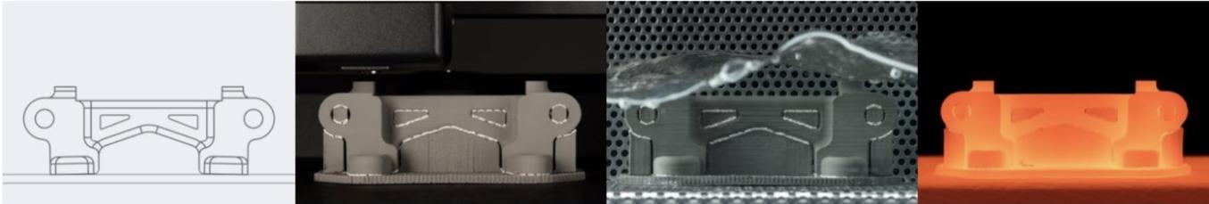Das Studio System von Desktop Metal funktioniert nach einem ähnlichen Prinzip wie FDM, verwendet allerdings Verbundwerkstoffe aus Metallpulver, das in einer Plastikmatrix festgehalten wird.