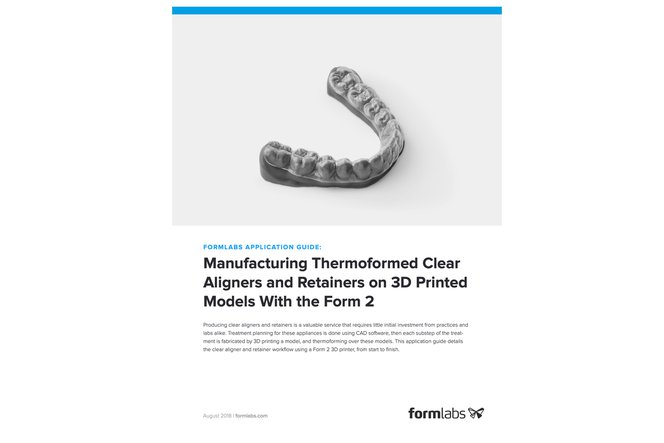 Application Guide: Manufacturing Thermoformed Clear Aligners