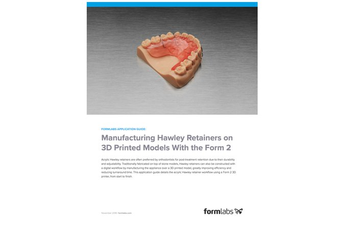 Application Guide: Manufacturing Hawley Retainers on 3D