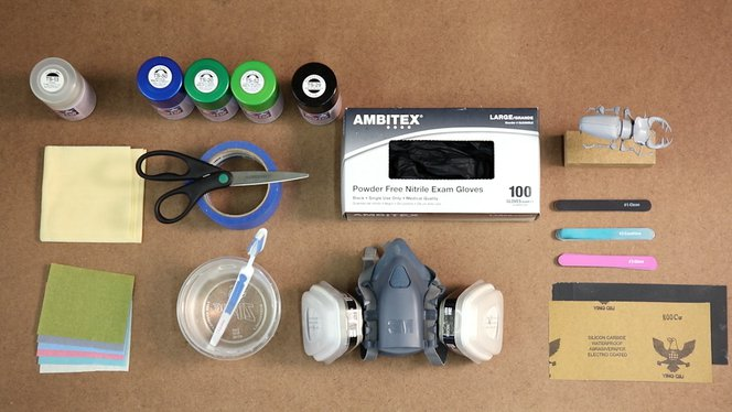 Materials to paint 3D printed parts