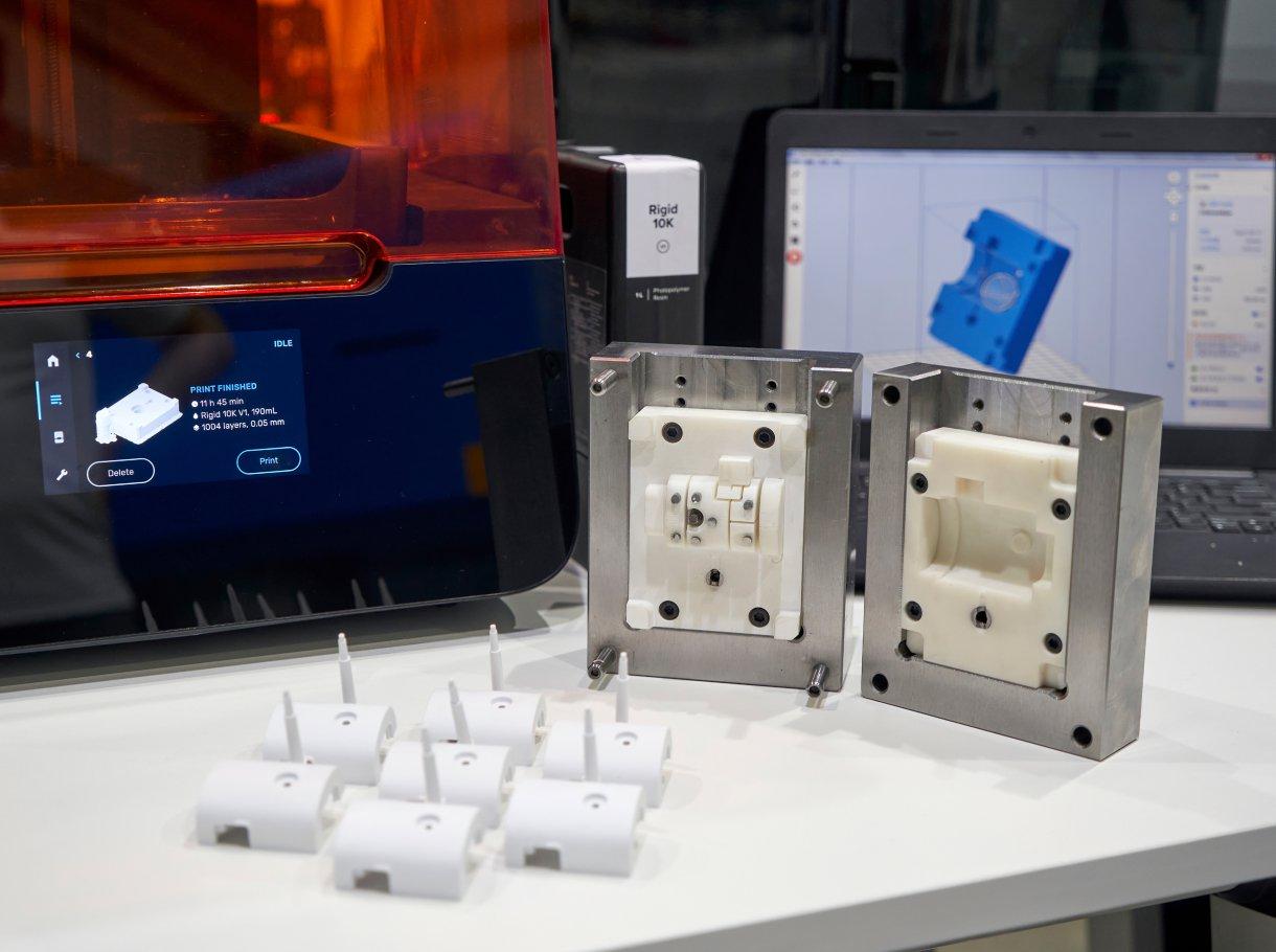 Moules d'injection imprimés en 3D pour la production en petites quantités
