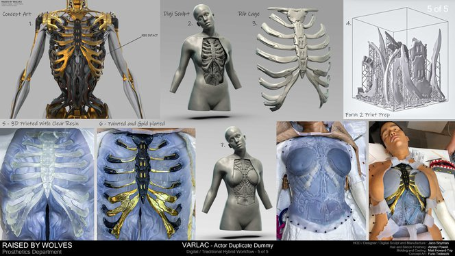 Raised by Wolves android's 3D printed ribs.